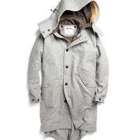 Military Parka in Grey Heather