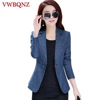 2018 New Spring Autumn Plus Size 4XL Womens Business Suits One Button Office Female Blazers Jackets Short Slim Blazer Women Suit