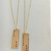 Sorority Tag Necklace