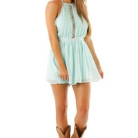 Between The Stars Romper: Baby Blue | Hope's