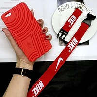 NIKE Air Force 1 New Stylish iPhone 6/7/8/X Phone Case Cover F-OF-SJK Red