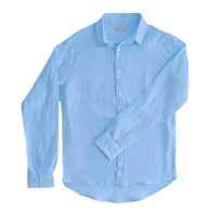 98 Coast Av Linen Shirt Light Blue
