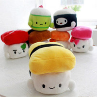 "Sushi Plush Pillow 6"" Cushion Doll Toy Japanese Food Gift Bedding Cute Decor"