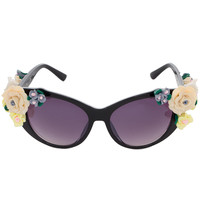 Hero Floral Sunglasses in Black