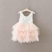 Baby Girls  Princess Vest Party  Layered Dress