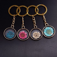 Flower Locket Key Chain