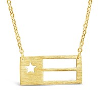 Chic Texas State Flag Necklace