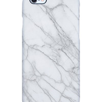 Uncommon Women's Marble White iPhone 6 Plus SS Deflector Case - White