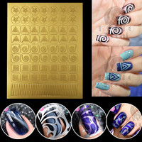 Kasako Docai New Nail Art Vinyls Tips Stamping Tool Hollow Template Nail Stencil Stickers Guide Nails Polish Manicure French