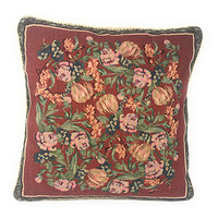 """DaDa Bedding Romantic Field of Roses Elegant Accent Throw Pillow Cushion Cover - 1-Piece - 18"""""""