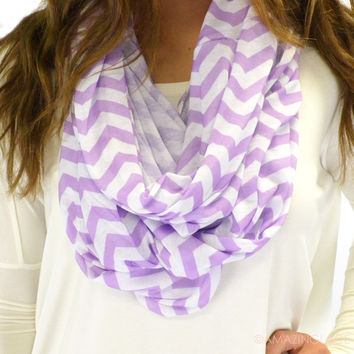 Lucy Lavender Chevron Infinity Scarf