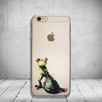 Funny iPhone 6 Case Clear Frog iPhone 6s Case Clear iPhone 6 Case iPhone 5s Case iPhone 6s Plus Case Soft Silicone iPhone Case No: 54