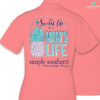 Simply Southern Moms Life Tee- Pink