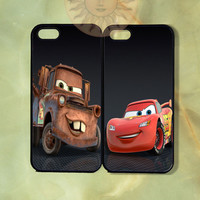 Matter and Mcqueen Couple Case-iPhone 5, iphone 4s, iphone 4 case, ipod 5, Samsung GS3-Silicone Rubber or Hard Plastic Case, Phone cover