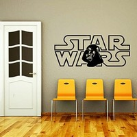Wall Decals Star Wars Logo Darth Vader Kids Children Nursery Room Office Window Wall Vinyl Decal Stickers Bedroom Murals