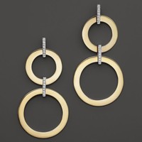 Roberto Coin 18K Yellow and White Gold Diamond Round Drop Earrings | Bloomingdales's