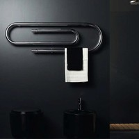 Graffe Wall Mount Hydronic Towel Warmer Finish: White