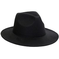 Fedora Wool Hat Classical Wide Brim Felt