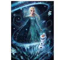 New Frozen Cartoon Characters round 5D DIY Diamond Painting Crystal Diamond Painting Cross Stitch Needlework Home Decor