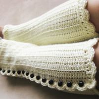 Women's Legwarmers Shells and Beads Discount Pattern Tester