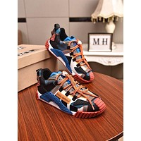 DOLCE&GABBANA Men Fashion Boots fashionable Casual leather Breathable Sneakers Running Shoes-12