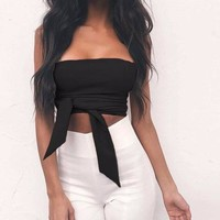 Mia Wrap-Around Crop Top