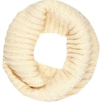 Cream chunky twist knit snood - scarves - accessories - women