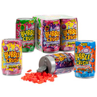 Bubble Crush Bubble Gum Nuggets Soda Cans 4-Packs: 12-Piece Box