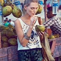 Free People Womens Simply Holey Tank