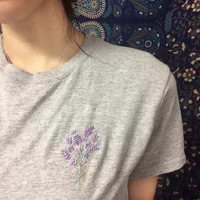 Pastel Lavender Embroidered Shirt