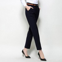 Women Casual Pants Work Plus Size lady Trousers New Slim Radish Feet Woman Office Pants Trousers Ankle Length