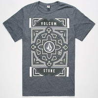Volcom Vitan Mens T-Shirt Heather Navy  In Sizes