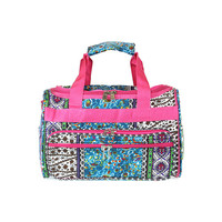 Fuschia Multi Boho Duffle Bag