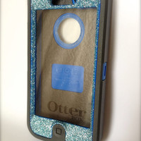 iPhone 5 Otterbox Glitter Cute Sparkly Case Defender Series for Apple iPhone 5 Frost Blue Topaz/Black