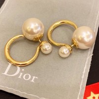 Dior Stylish Women Cute Pearl Earrings Accessories Jewelry