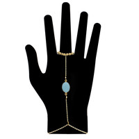Single Gemstone Hand Chain