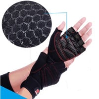 Weight Lifting Gym Gloves Training Fitness Antislip Wareproof Wrist Wrap Workout Exercise Gaming 3 Color In Pair
