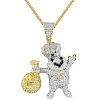 DoughBoy Chef Pillsbury Money Bag IcedOut Custom Pendant
