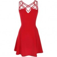 Red Strappy Dress