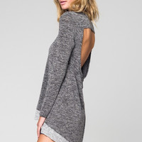 Sweater Top With Back Opening