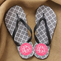 Chevron Monogrammed Flip Flops, Teacher Gift, Graduation Gift, Personalized Flip Flops, Bridal Party Gifts, Flip Flops, Sorority Gifts