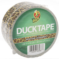 "patterned duck tape 1.88"" wide 10 yard roll-leopar"