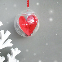 Personalised 'First Christmas' Glass Bauble