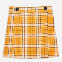 Summer Check Kilt Mini Skirt