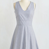 Americana Mid-length Sleeveless A-line Penchant for Picnics Dress by ModCloth