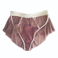 Limerence Silk Tulle Brief by Janay Delicately British