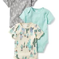 Printed 3-Pack Bodysuit for Baby