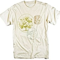 Tree T-shirt Leaf Bark of Sycamore Tree Vintage Botanical Graphic Tee