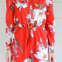 Lost in Paradise Floral Romper
