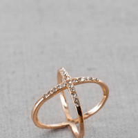 CALISTOGA CRISS CROSS MIDI RING